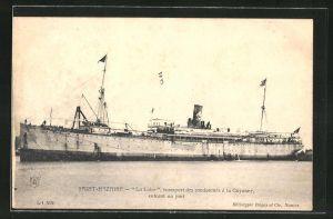 AK Saint-Nazaire, Passagierschiff La Loire vor der Küste
