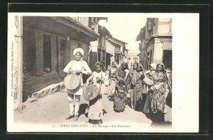 AK Indien, Indes anglaises, Un Mariage, Les Musiciens