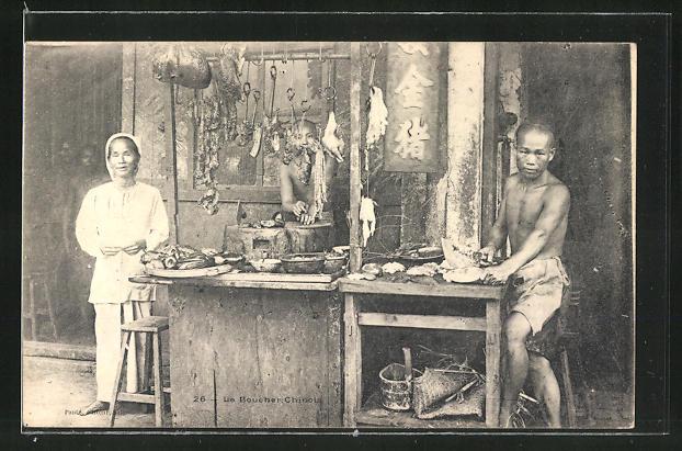 AK Le Bouche-Chinois, chinesischer Fleischer
