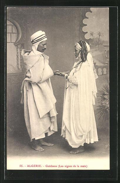 AK Algérie, Guidzane, Les signes de la main, Handleserin, Hellseherin