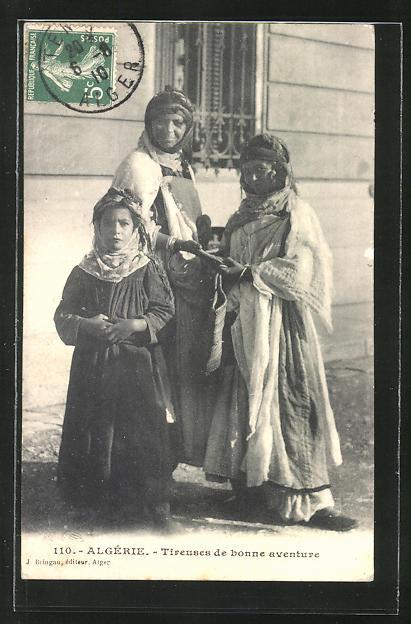 AK Algérie, Tireuse de bonne aventure, Handleserin, Hellseherin