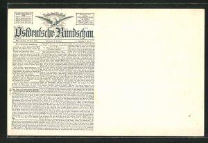 AK Ostdeutsche Rundschau, Deutsches Tageblatt, 25. Nov. 1893