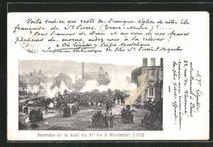 AK St. Pierre, Incendie de la nuit du 1er au 2 Novembre 1902, Partie nach dem Feuer