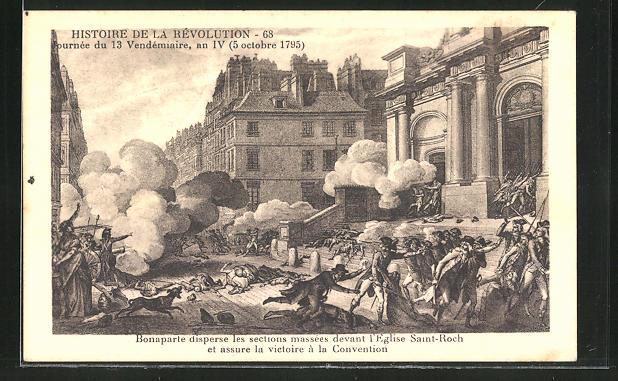 AK Histoire de la Révolution, Bonaparte disperse les sections...