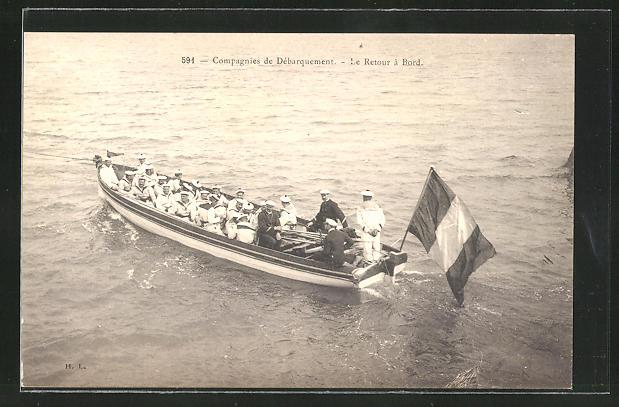 AK Compagnies de Débarquement, Le Retour à Bord, Ruderboot der französ. Marine