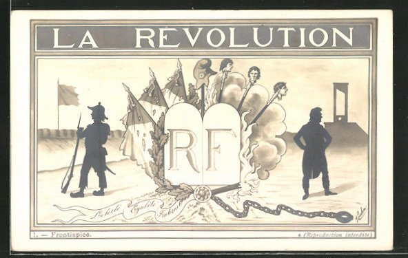 Künstler-AK La Revolution, Silhouetten