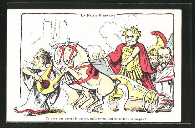 AK La Patrie Francaise, Karikatur