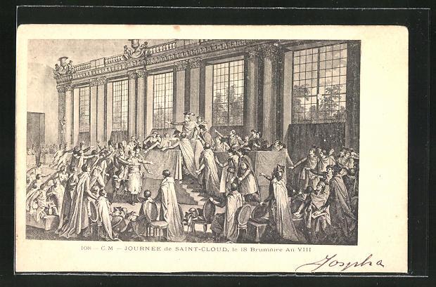 AK Saint-Cloud, le 18 Brumaire An VIII, französische Revolution