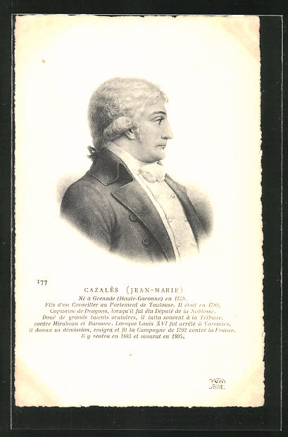 AK Jean-Marie Cazalès, Profilportrait