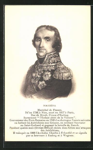 AK Massena, Marschall von Frankreich