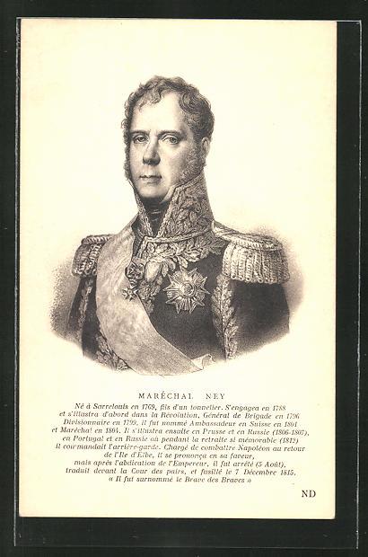 AK Maréchal Ney, Portrait in Uniform