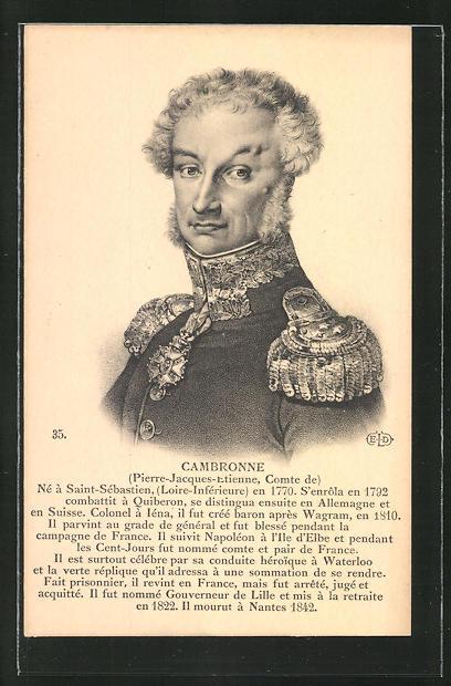 AK Cambronne, französ. Heerführer