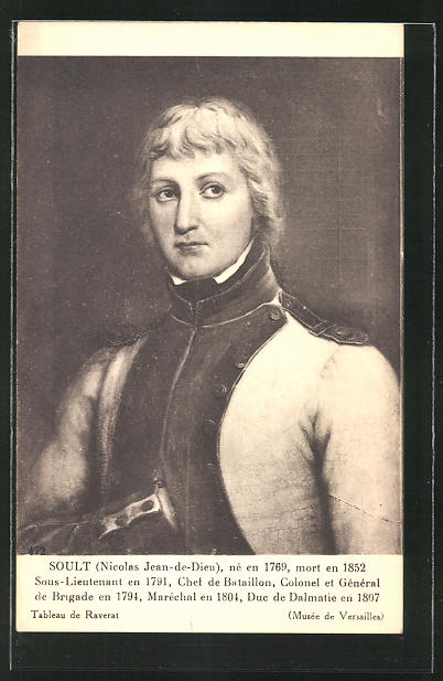 AK Nicolas Jean-de-Dieu Soult, französ. Heerführer