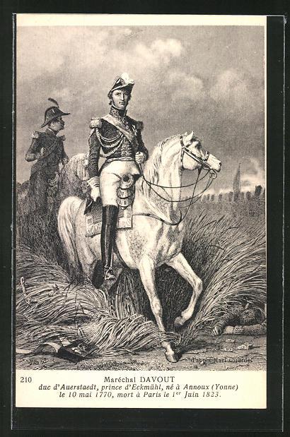 AK Maréchal Davout, Portrait zu Ross