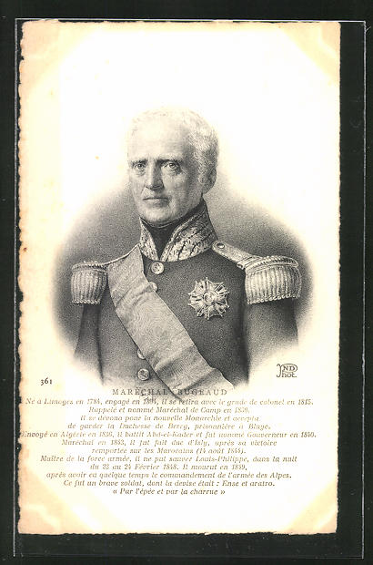 AK Maréchal Bugeaud, französ. Heerführer