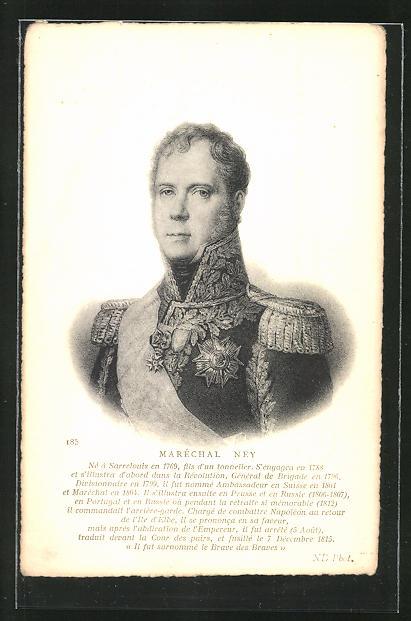 AK Maréchal Ney, französ. Heerführer, Brustportrait