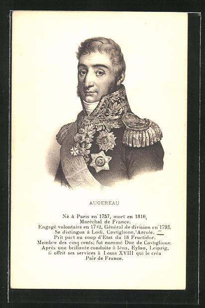AK Augereau, Maréchal de France, französ. Heerführer