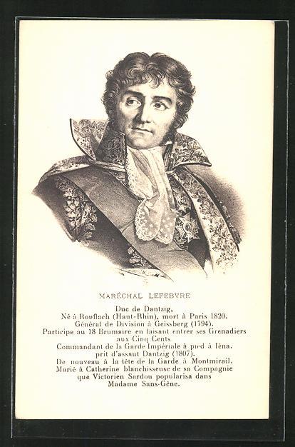 AK Maréchal Lefebvre, Duc de Dantzig, französ. Heerführer