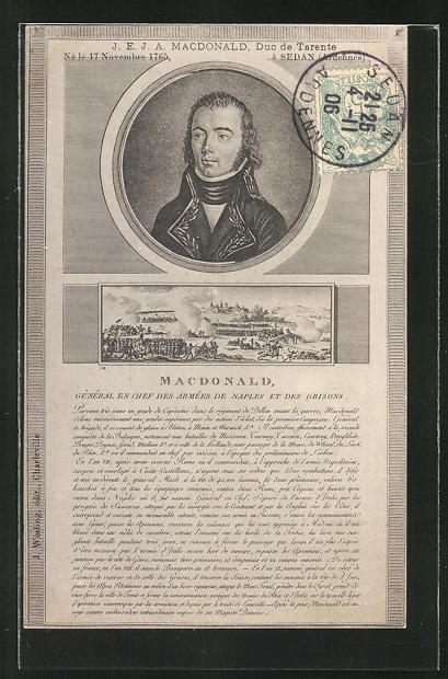 AK Sedan, 17 Nov. 1765, Macdonald, Duc de Tarente