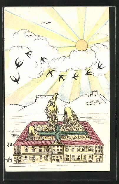 AK Regia Accademia Aerona, Vögel in der Luft und Geier