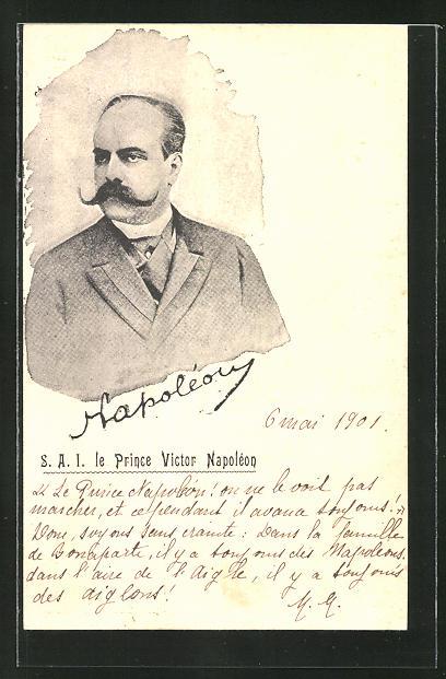 AK Le Prince Victor Napoléon, Adel von Frankreich