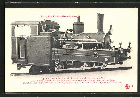 AK Lokomotive der schweizer Eisenbahn