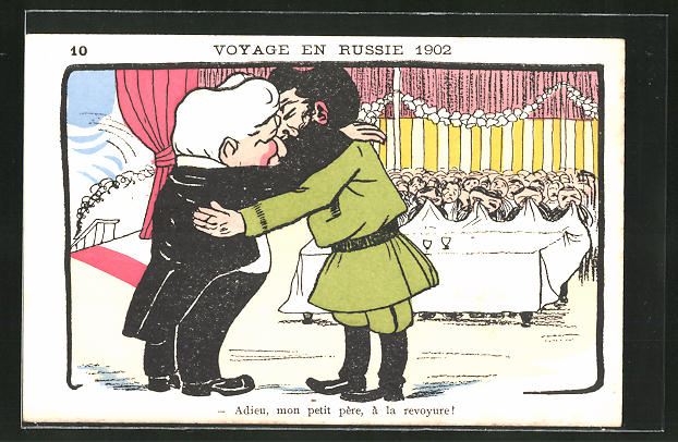 Künstler-AK Voyage en Russie 1902,