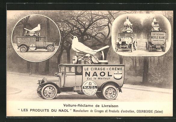 AK Courbevoie, Lastkraftwagen mit Reklame für