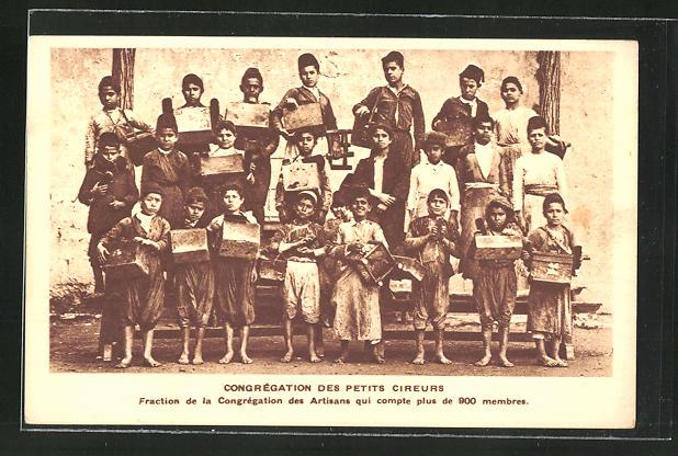 AK Congregation des Petites Cireurs, Gruppe junger Schuhputzer
