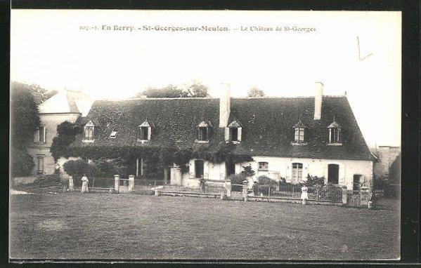 AK St-Georges-sur-Moulon, le Château de St-Georges, Anwesen