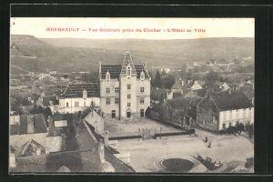 AK Meursault, Vue Generale prise du Clocher, L'Hotel de Ville