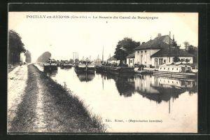 AK Pouilly-en-Auxois, Le Bassin du Canal de Bourgogne