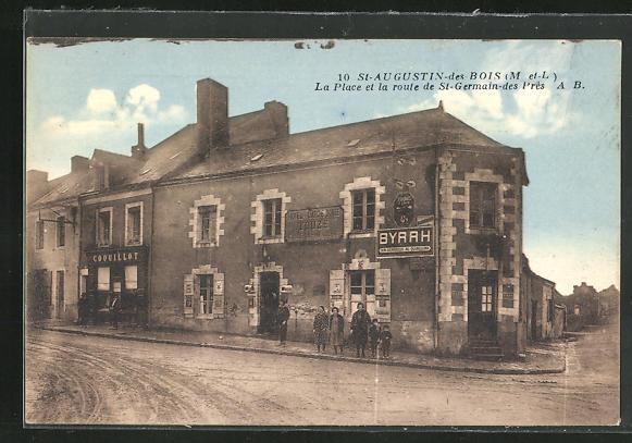 AK St-Augustin-des-Bois, La Place et la Route de St-Germain-des-Pres