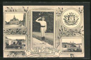 AK Segré, Fete Federale de Gymnastique 1913, Turner