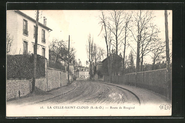 AK La Celle-Saint-Cloud, Route de Bougival