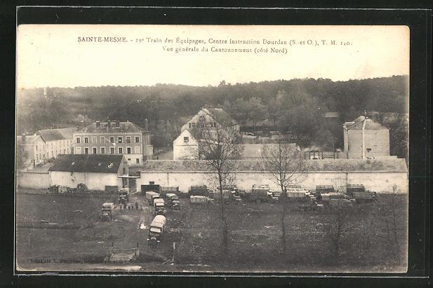 AK Sainte-Mesme, 19e Train des Equipages, Centre instruction Dourdan, Vue generale du Cantonnement