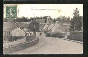 AK Saint-Leger-en-Yvelines, La Rue des Oiseaux, Strassenpartie