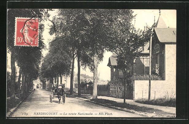 AK Hardricourt, La route Nationale