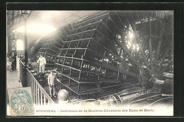 AK Bougival, Interieure de la Machine elevatoire des Eaux de Marly