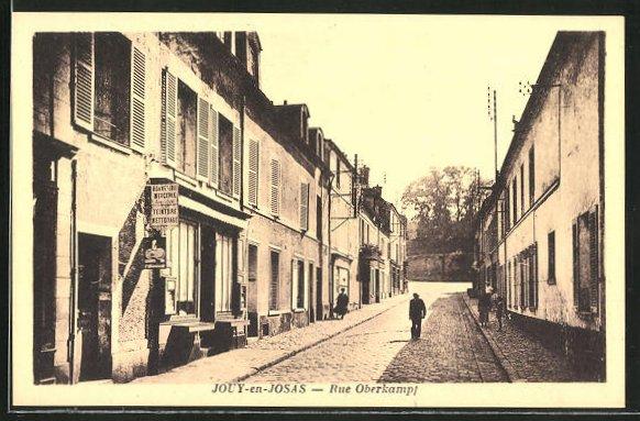 AK Jouy-en-Josas, Rue Oberkampf, Strassenpartie
