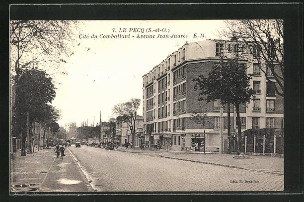AK Le Pecq, Cité du Combattant - Avenue Jean Jaurès, Ortspartie