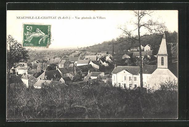 AK Neauphle-le-Chateau, Vue générale de Villiers