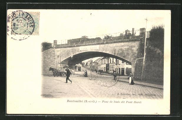 AK Rambouillet, Pont de biais dit Pont Hardi, Eisenbahnbrücke