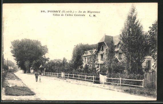 AK Poissy, Ile de Migneaux, Villas de l'Allée Centrale