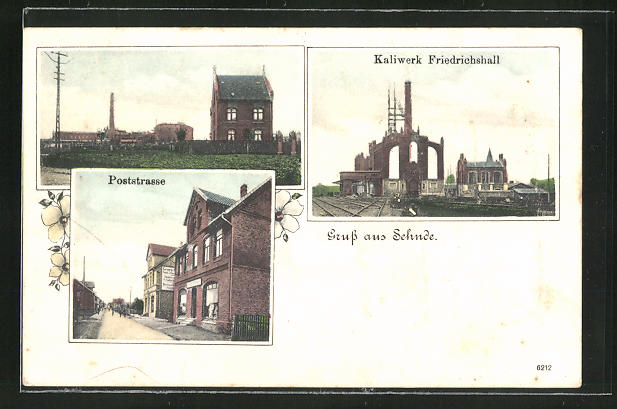 AK Sehnde, Kaliwerk Friedrichshall, Poststrasse