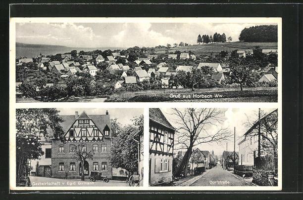 AK Horbach / Ww., Gasthaus von Egid. Girmann, Dorfstrasse