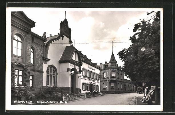 AK Bitburg / Eifel, Gasthaus Simonsbräu am Markt