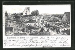 AK Ilsfeld, Blick auf die Brandstätte 1904
