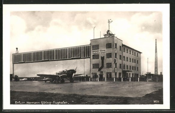 AK Erfurt, Ansicht vom Hermann Göring-Flughafen