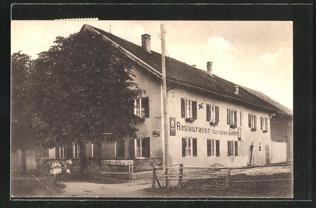 AK Peissenberg / Obb., Restaurant zur alten Bahn von T. Ressler